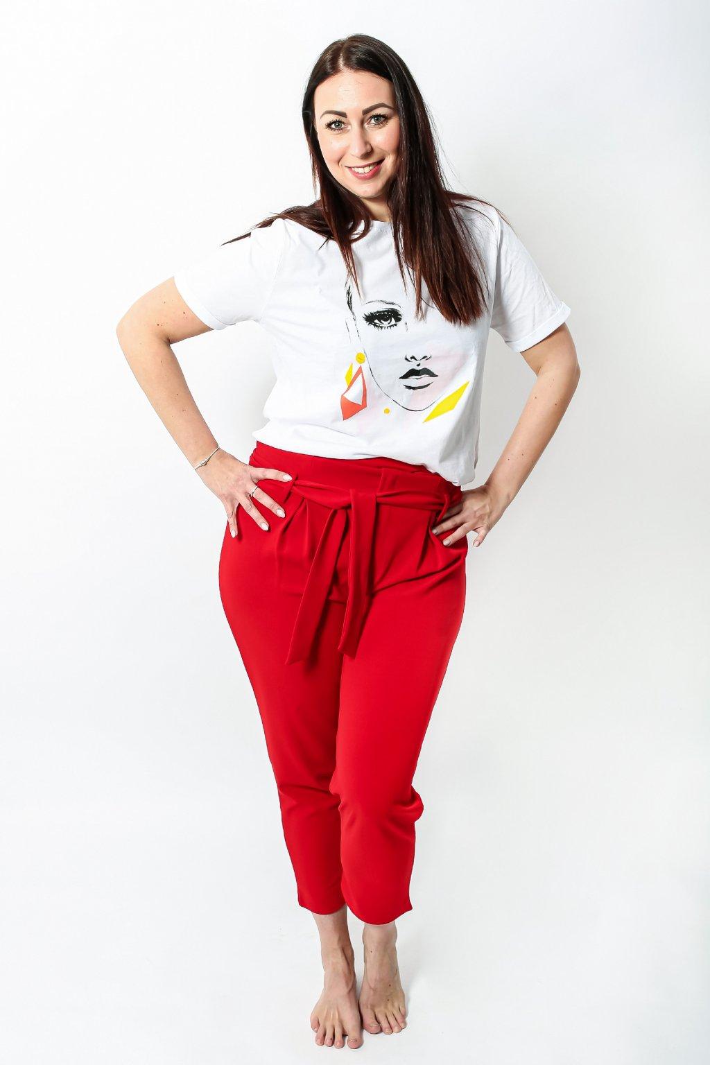 Dámské kalhoty Newark červené 5