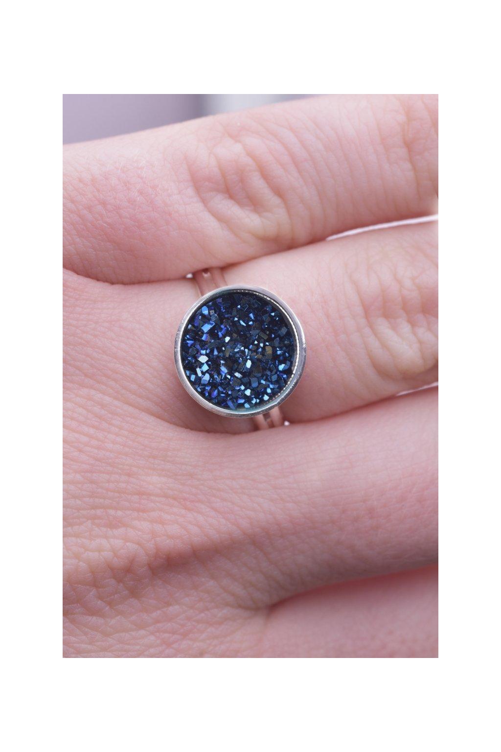 Prsten dark blue Dragon eye (tmavě modré dračí oko) 2