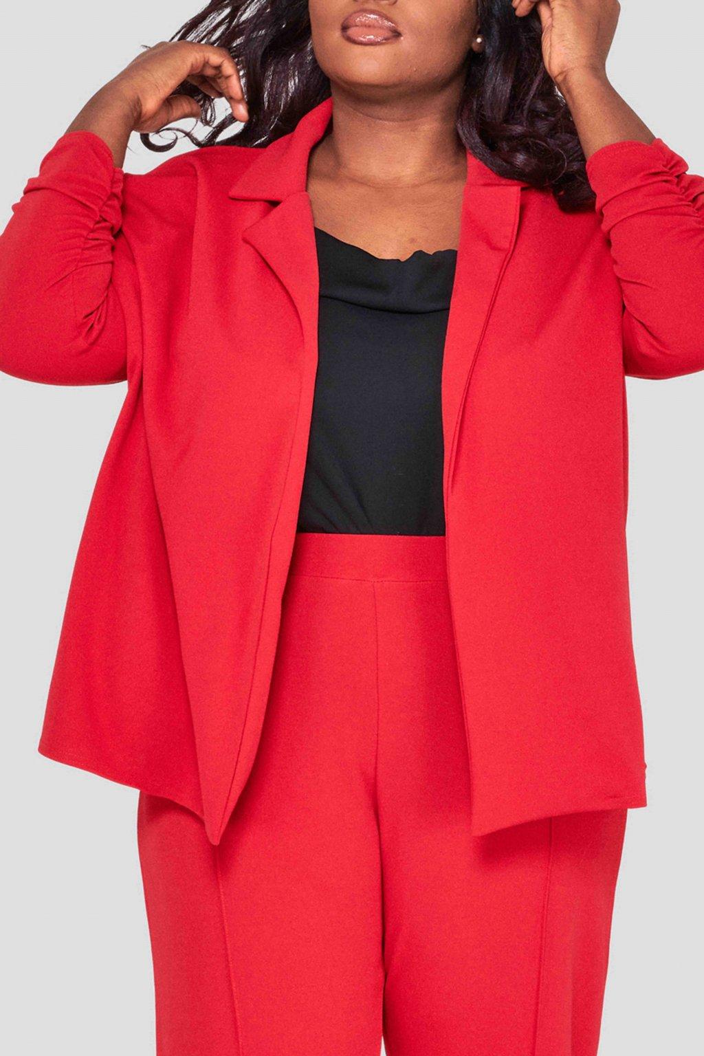 Elegantní sako Ratby červené 1