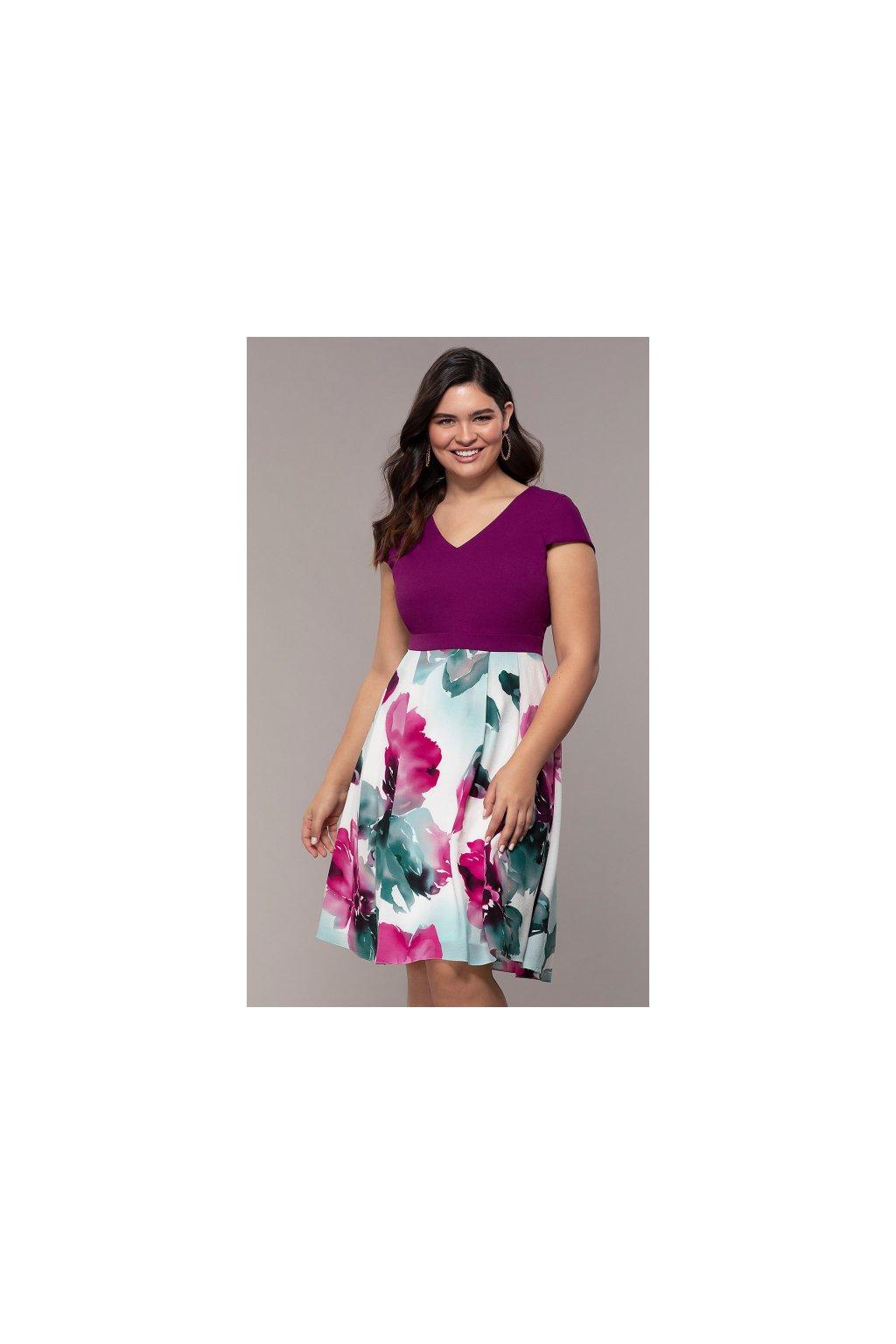 Krátké letní šaty Vivien fialové 1