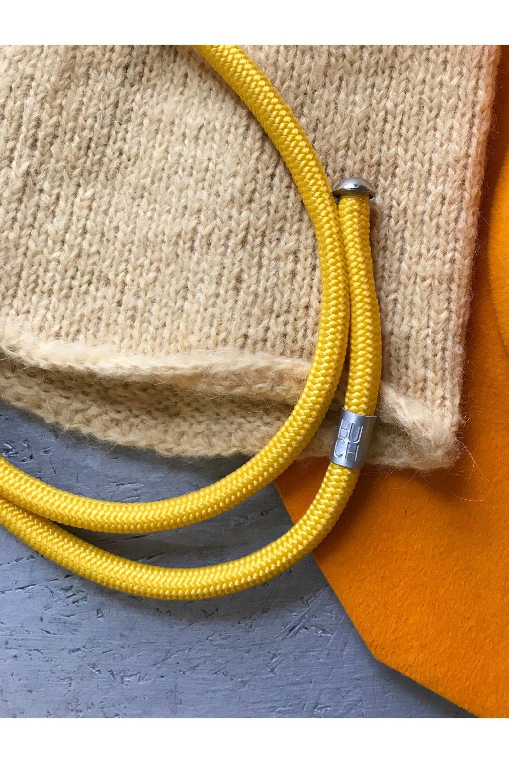 Kruhový žlutý náhrdelník 6