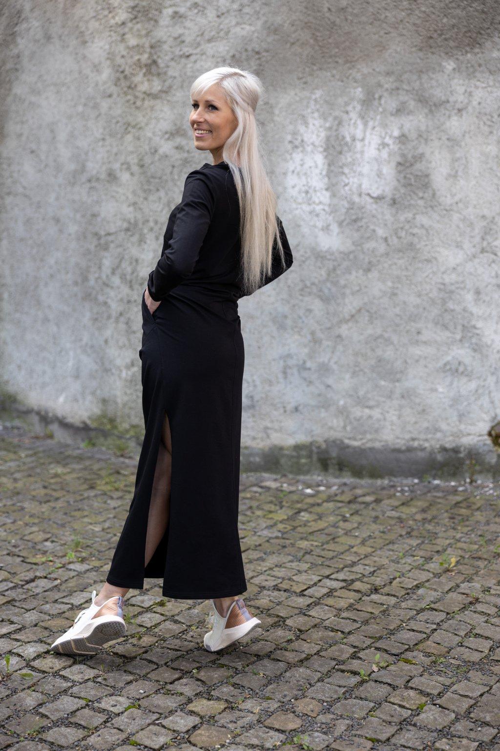 Dámské maxi šaty černá 1