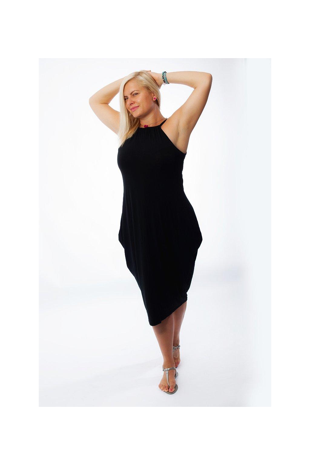 Letní šaty La Bella černé 1