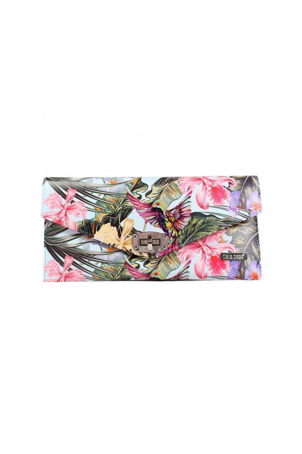 Pestrobarevná květinová kabelka Malibu Classy zelená 1