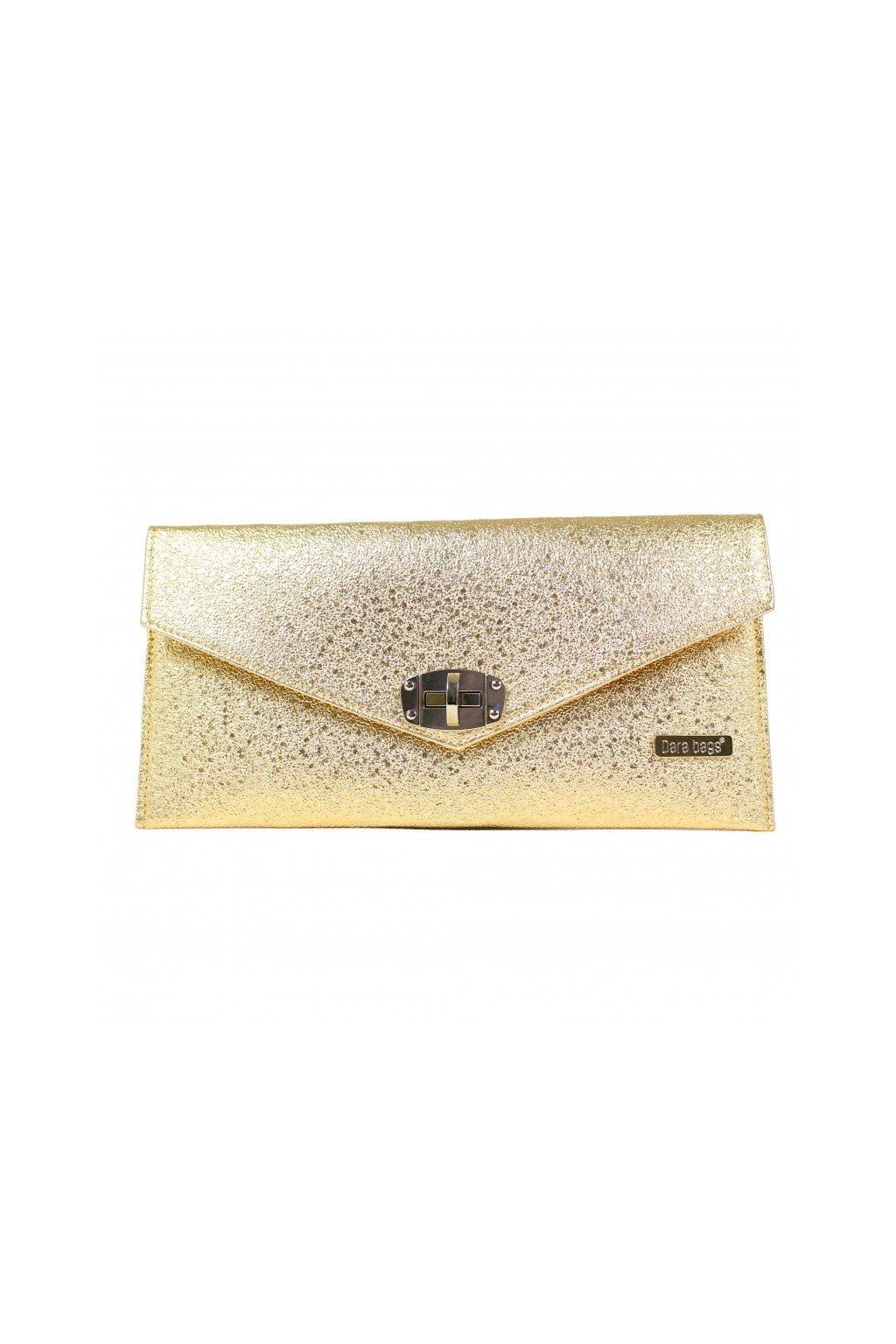 Malá třpytivá kabelka Malibu Classy zlatá 1