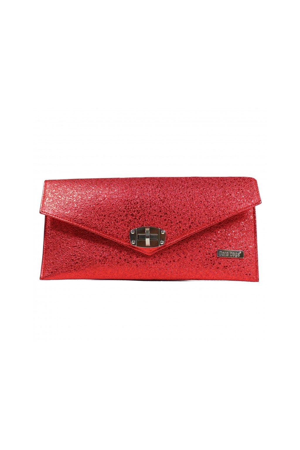 Malá třpytivá kabelka Malibu Classy Dara bags červená 1
