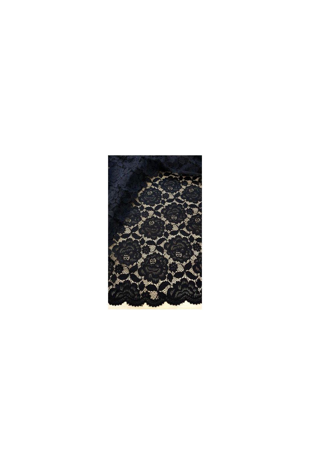 Krajkové šaty Crush s hladkou sukní černé 6