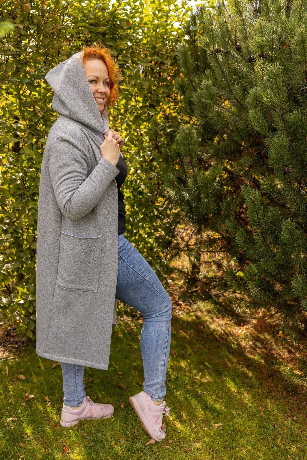 Dámský kardigan Melange šedý 18