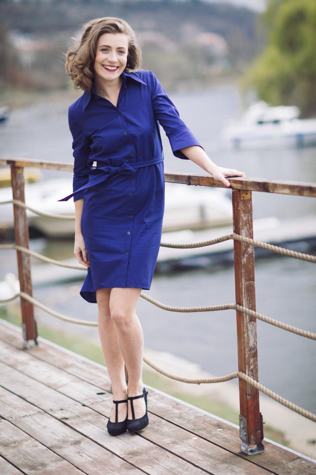 Košilové šaty Chamomilla tmavě modré 7