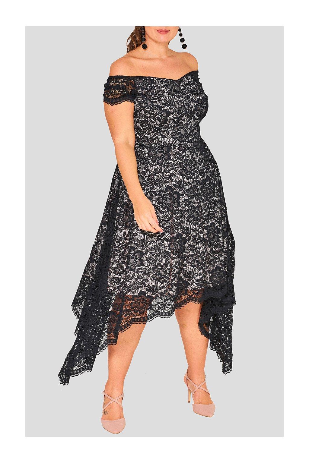 Krásné krajkové šaty Beesands černé 1