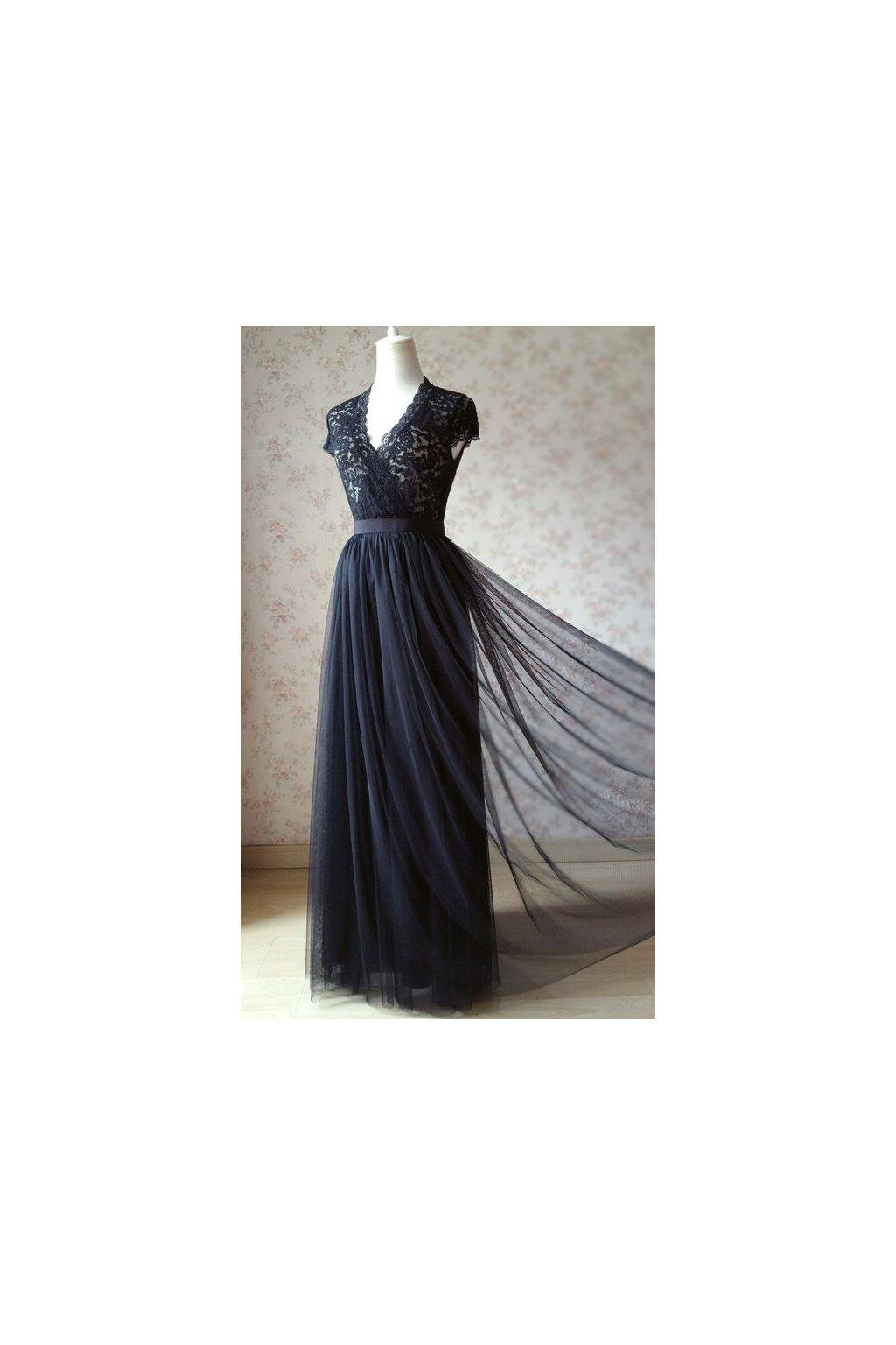 Dlouhá tylová sukně Abagail Bellazu černá