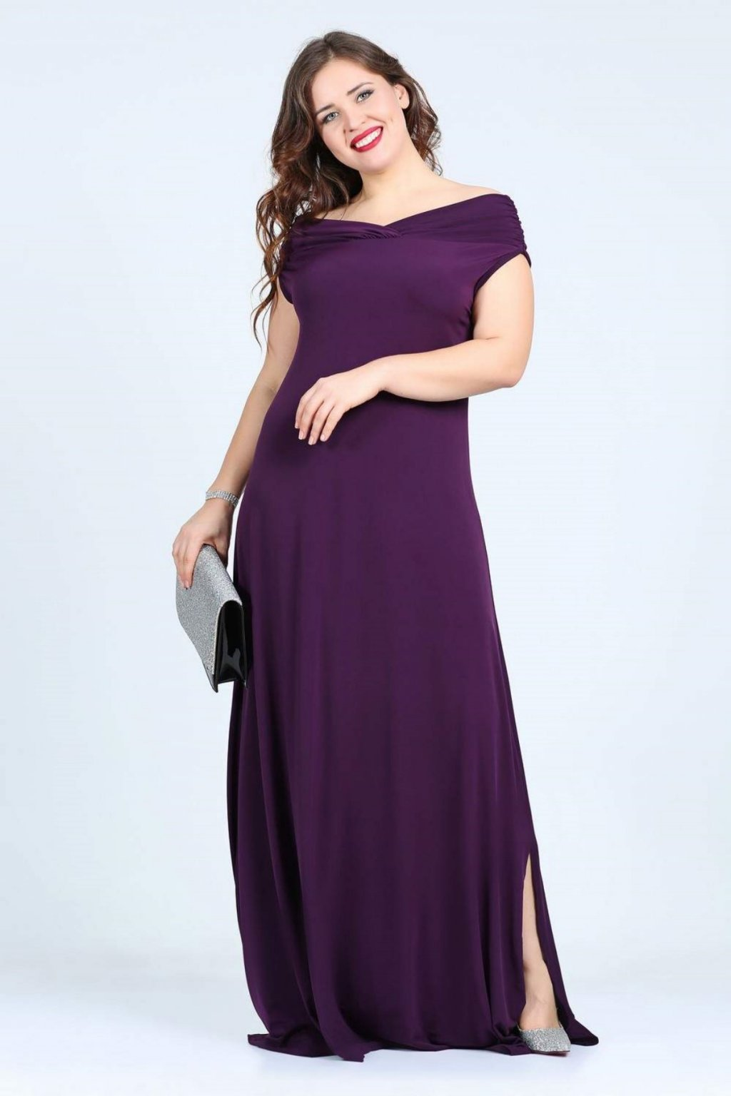 Společenské šaty Ciulia fialové 1