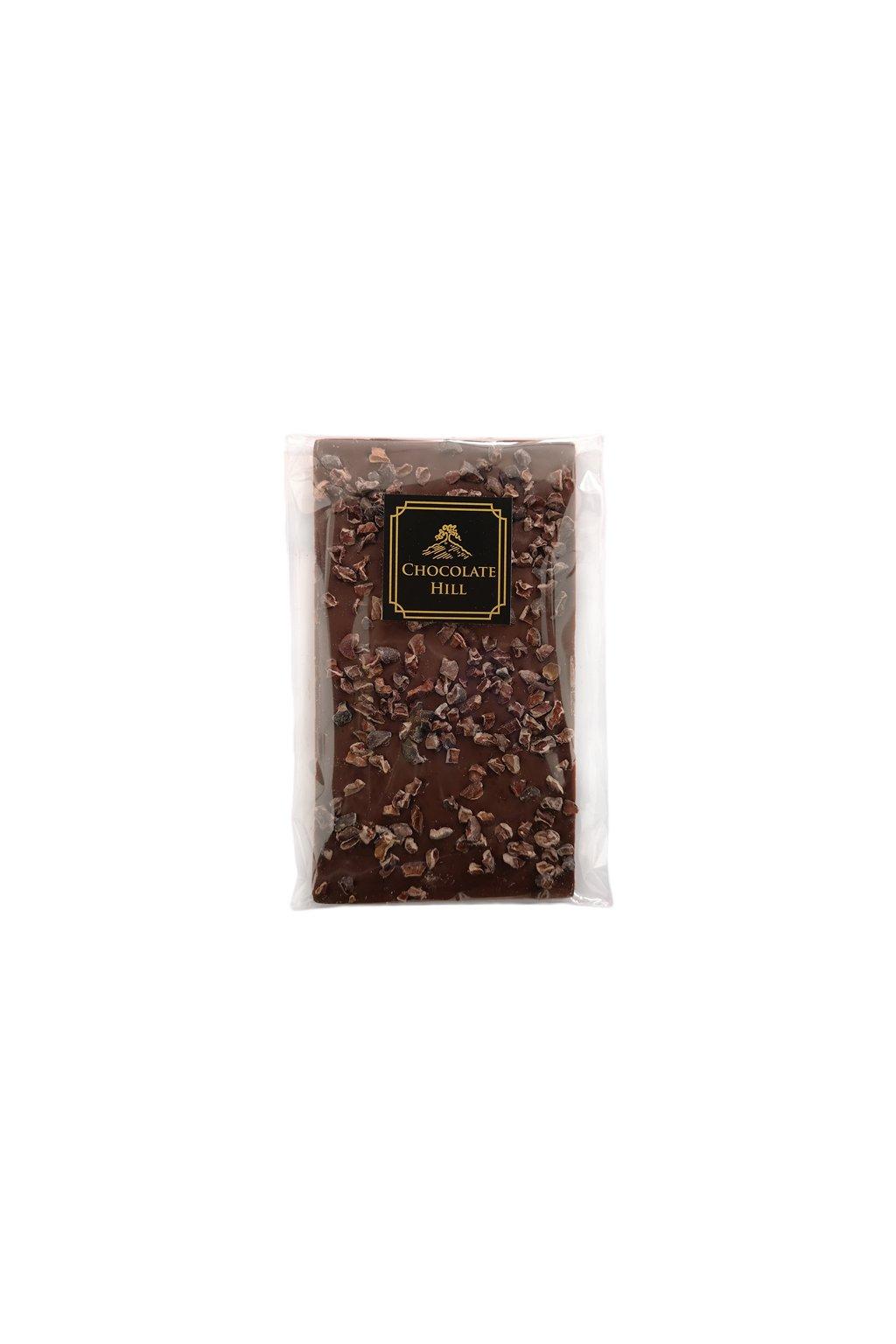 mlecna cokolada s drcenymi kakaovymi boby