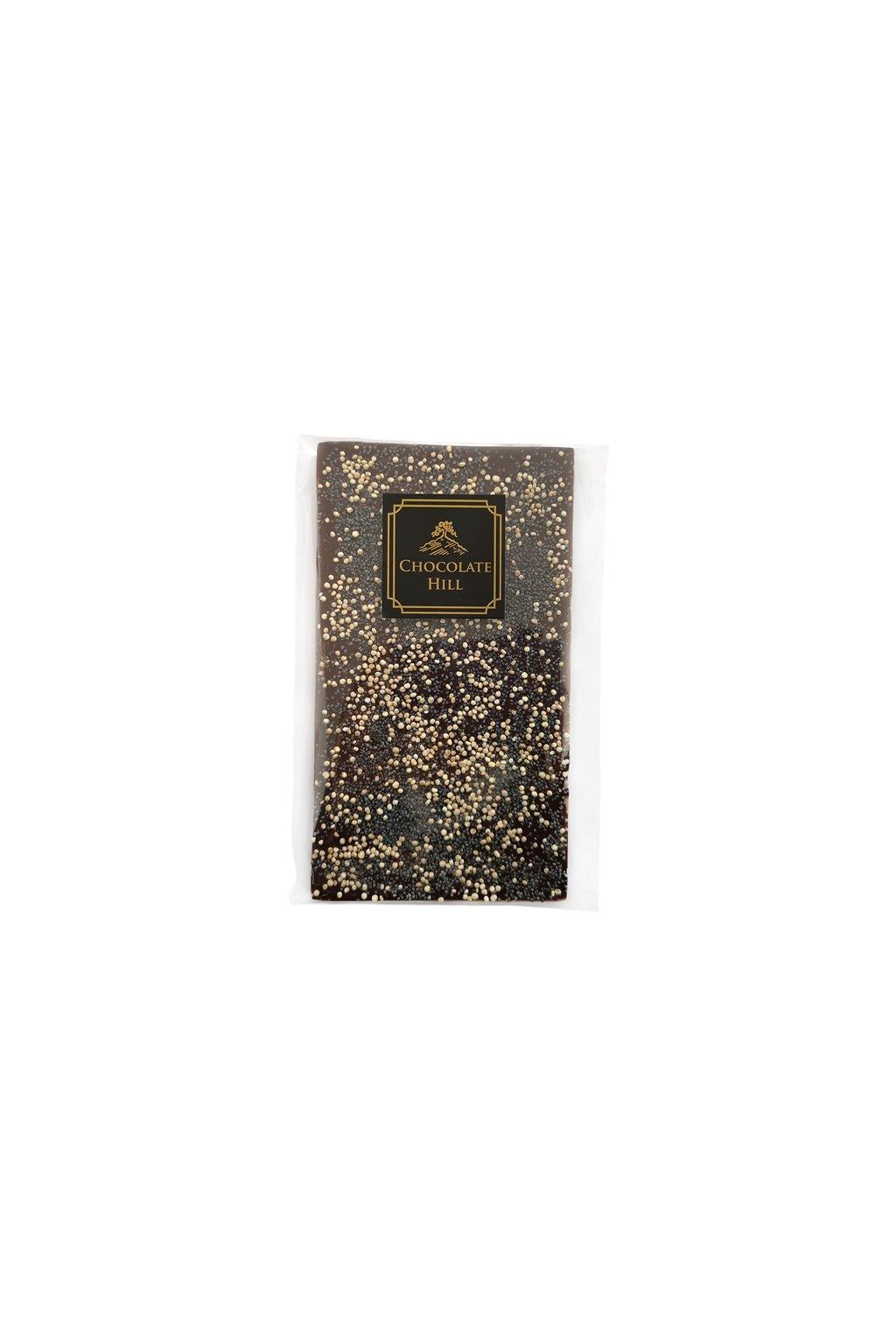 horka cokolada s quinoou a makem