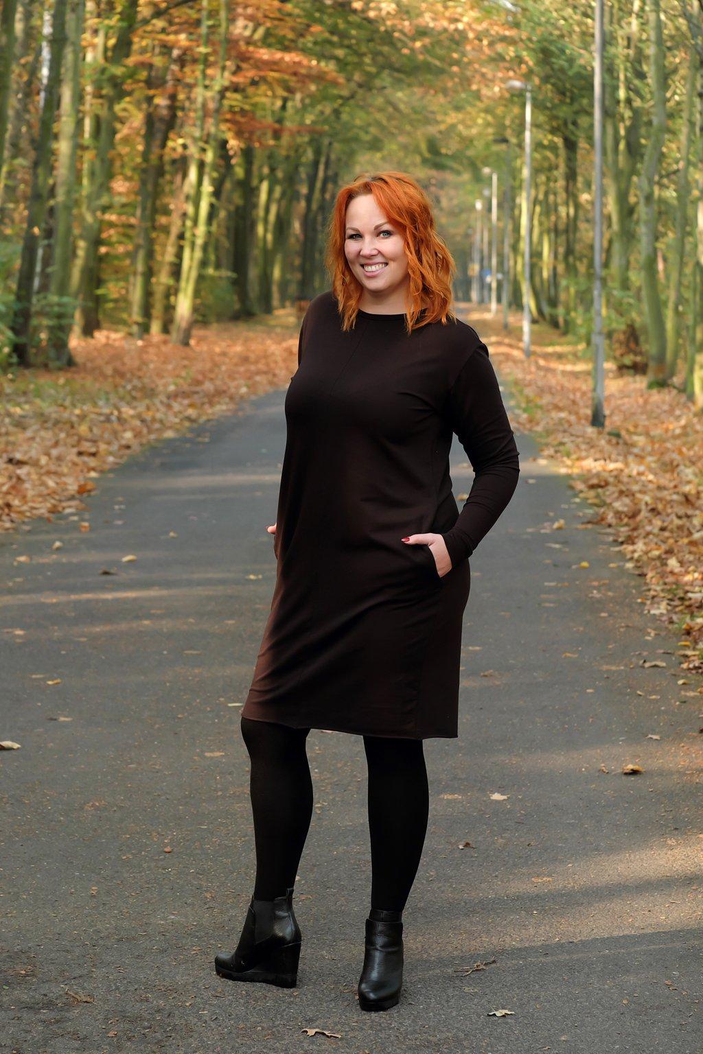 Dámské maxi šaty short černá 1