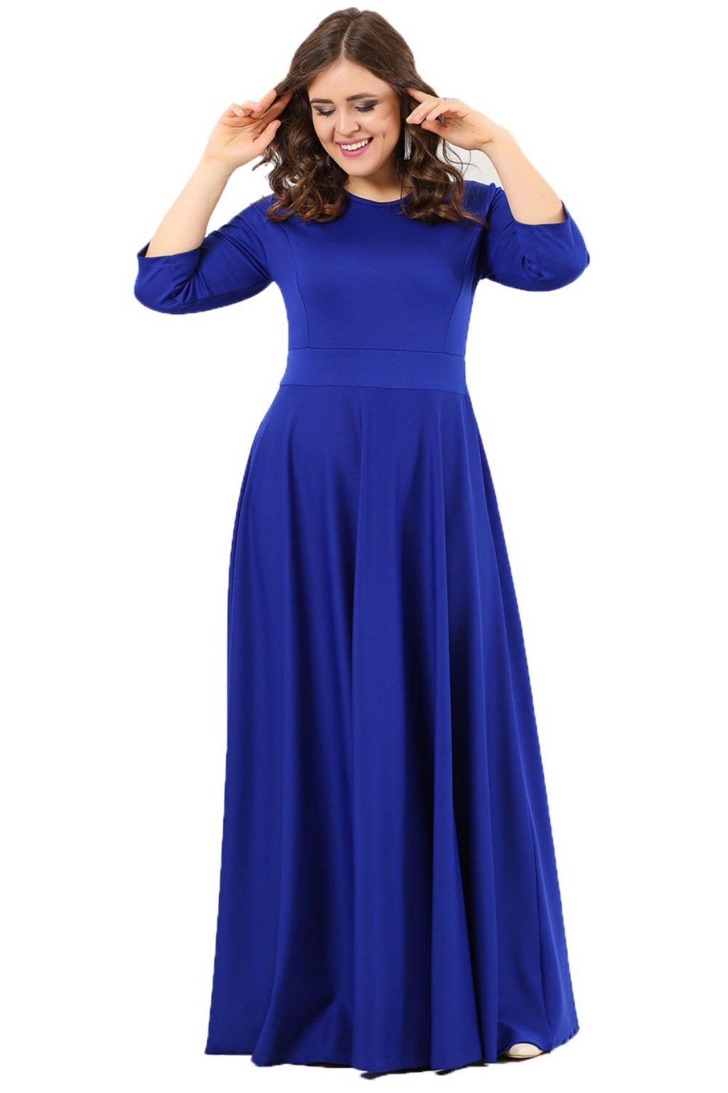Dlouhé šaty Paola královská morá 1