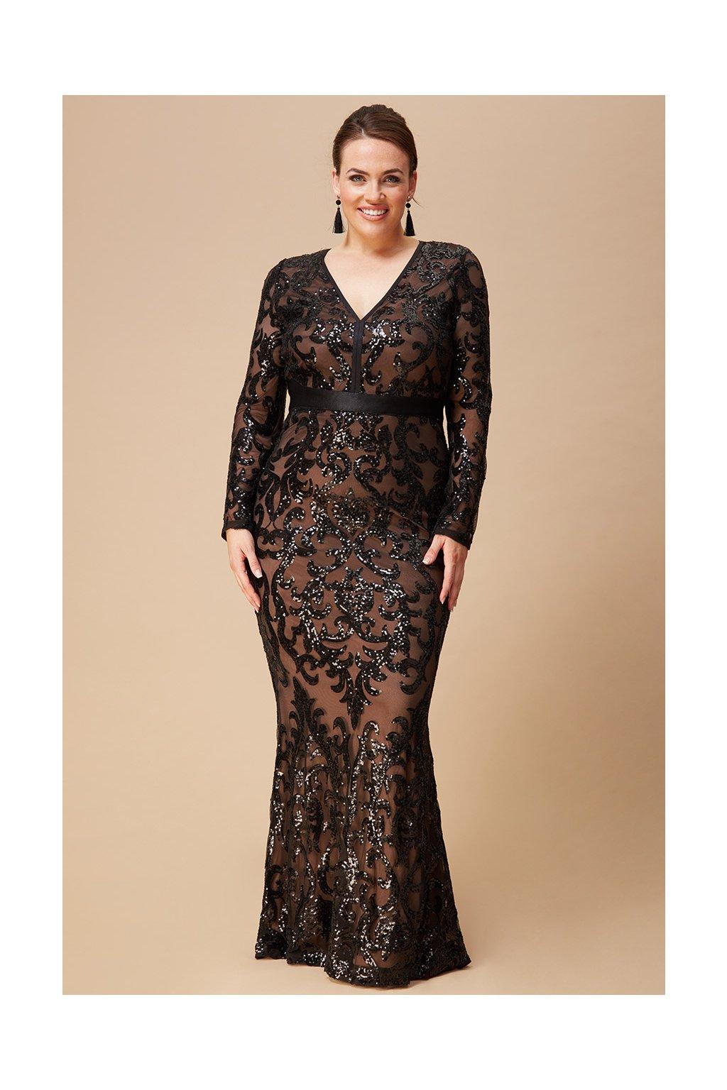 Dlouhé plesové šaty Gloria černé
