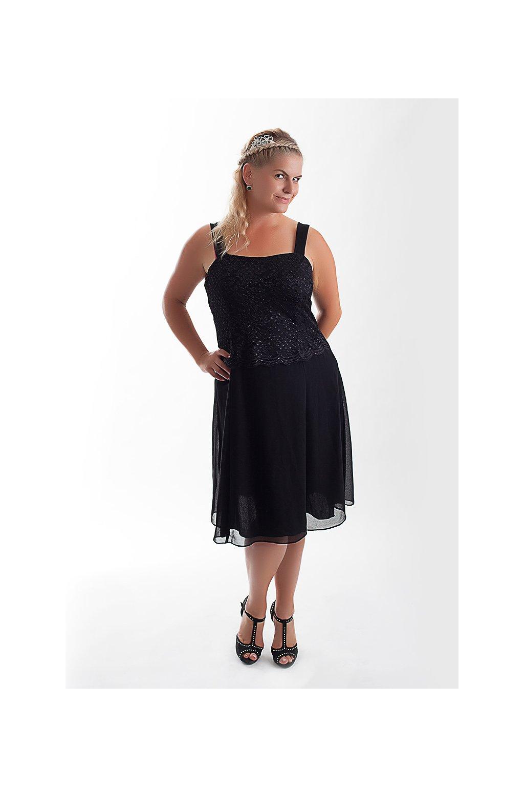 Krásné černé šaty Timeless s krajkovým bolérkem 3