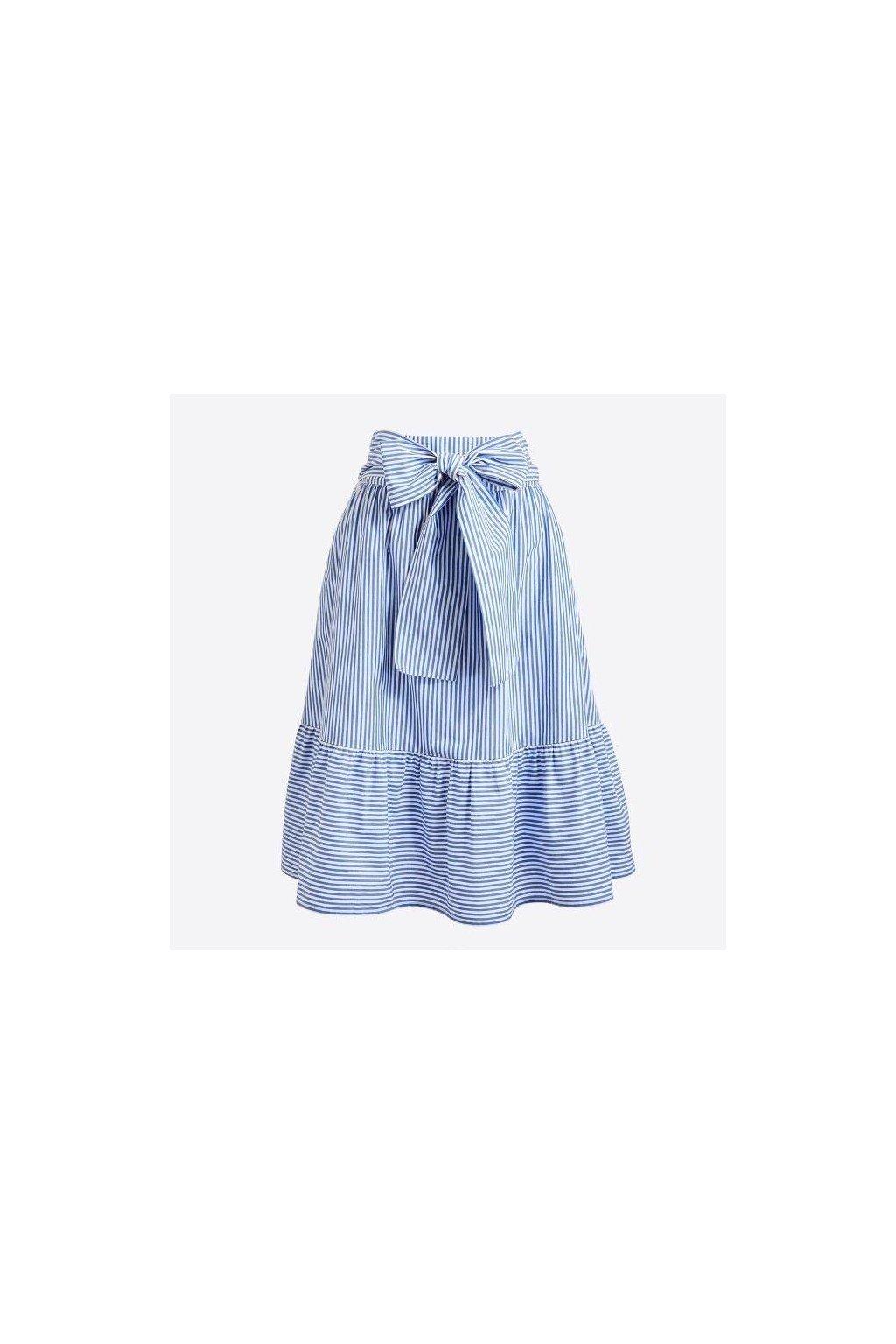 Jarní světlemodrá sukně Sunday s jemným proužkem