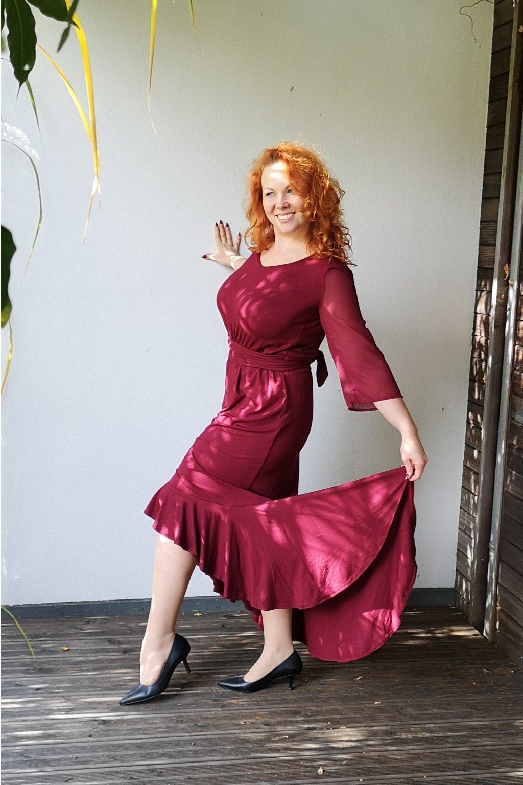 Společenské šaty Caroline v různých barvách 4