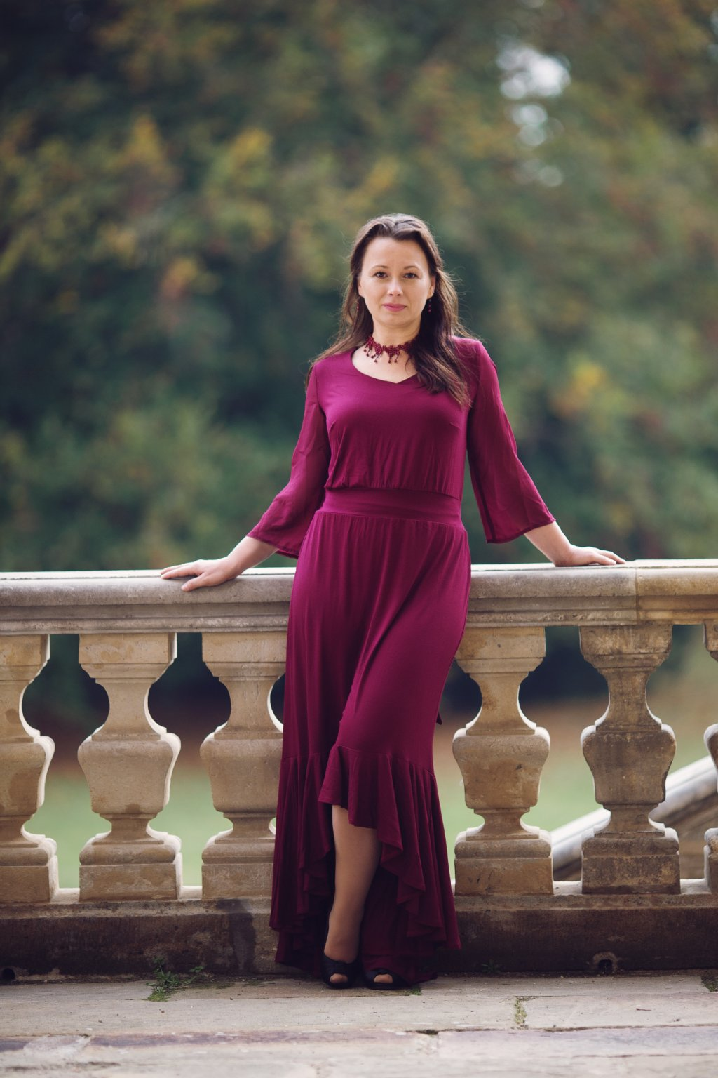 Společenské šaty Caroline v různých barvách 1