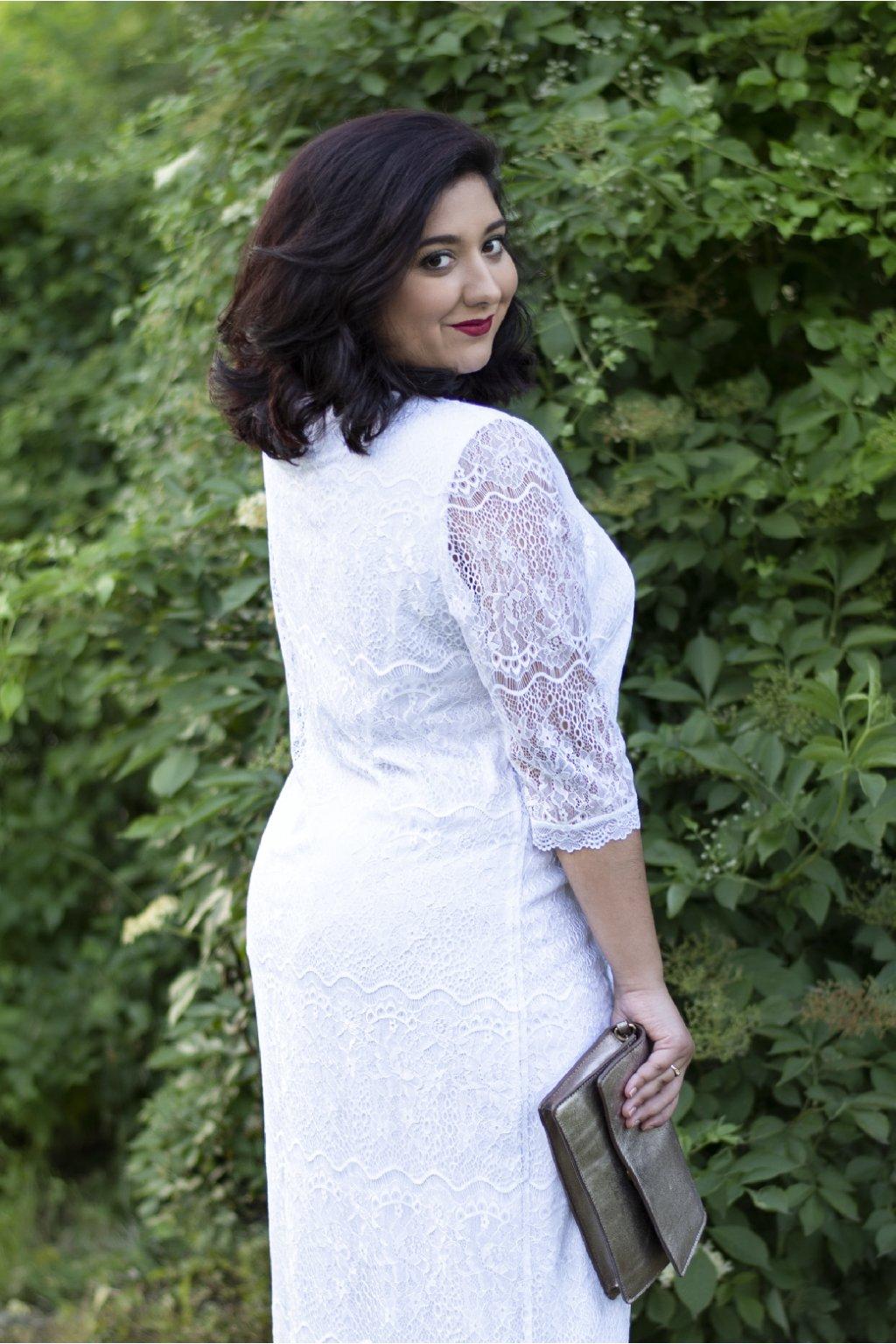 Svatební krajkové šaty Ala pouzdrového střihu 1