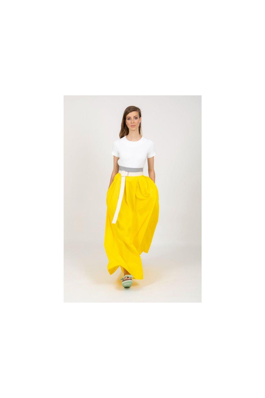 Dámská maxi sukně Frida žlutá 6