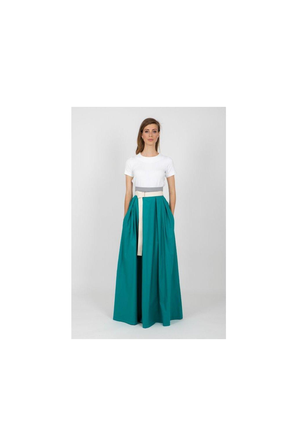 Dámská maxi sukně Frida zelenomodrá 1