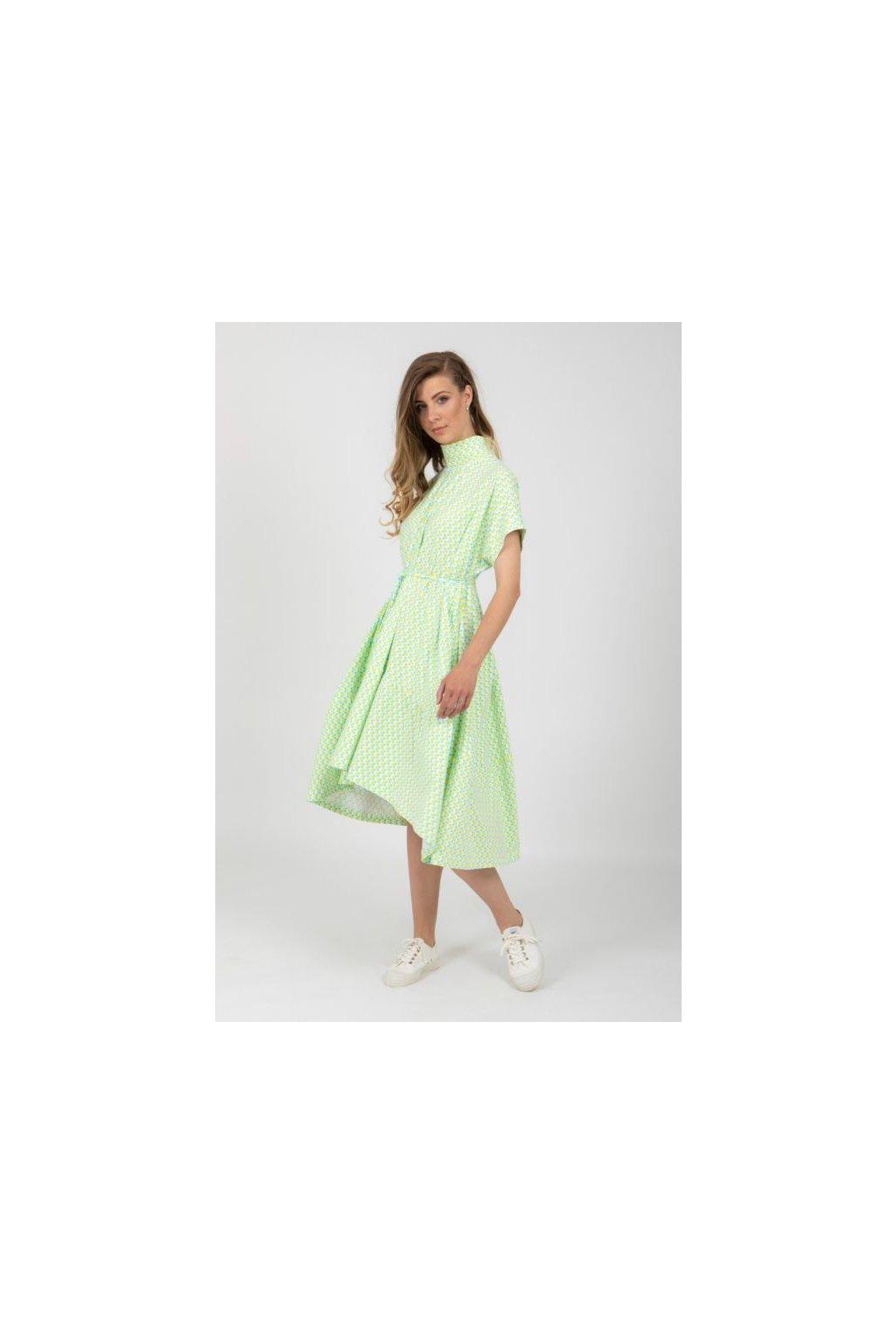 Univerzální úpletová oversize šaty pestrobarevné