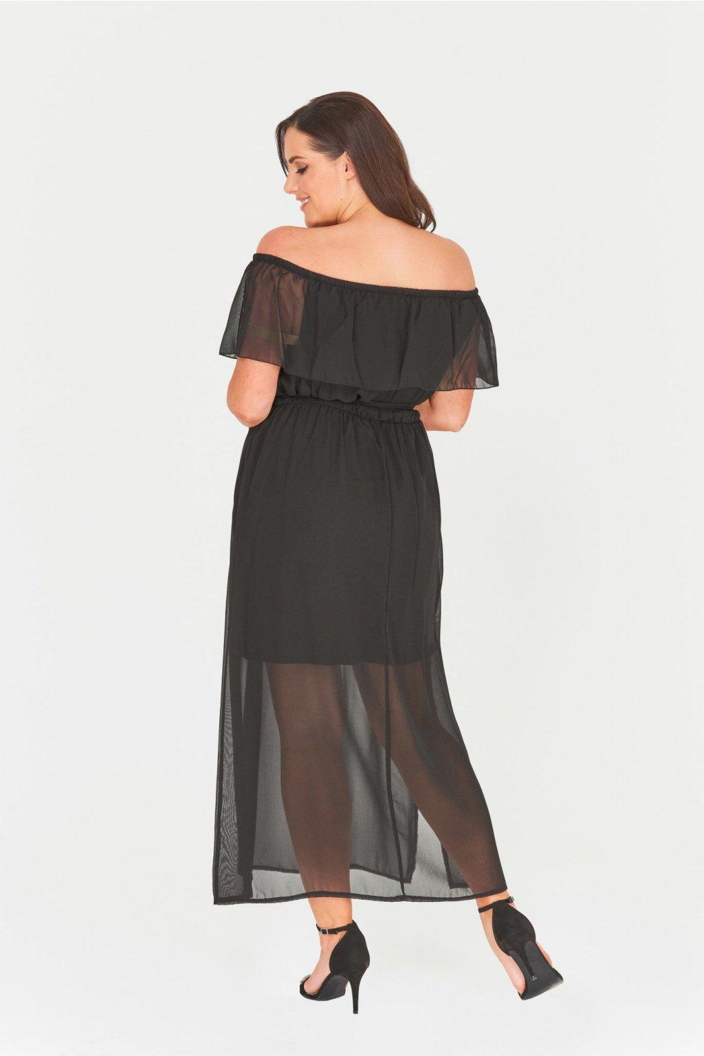 Dlouhé černé šaty Chaos s průsvitnou sukní - Bellazu.cz 0d4f9ca128