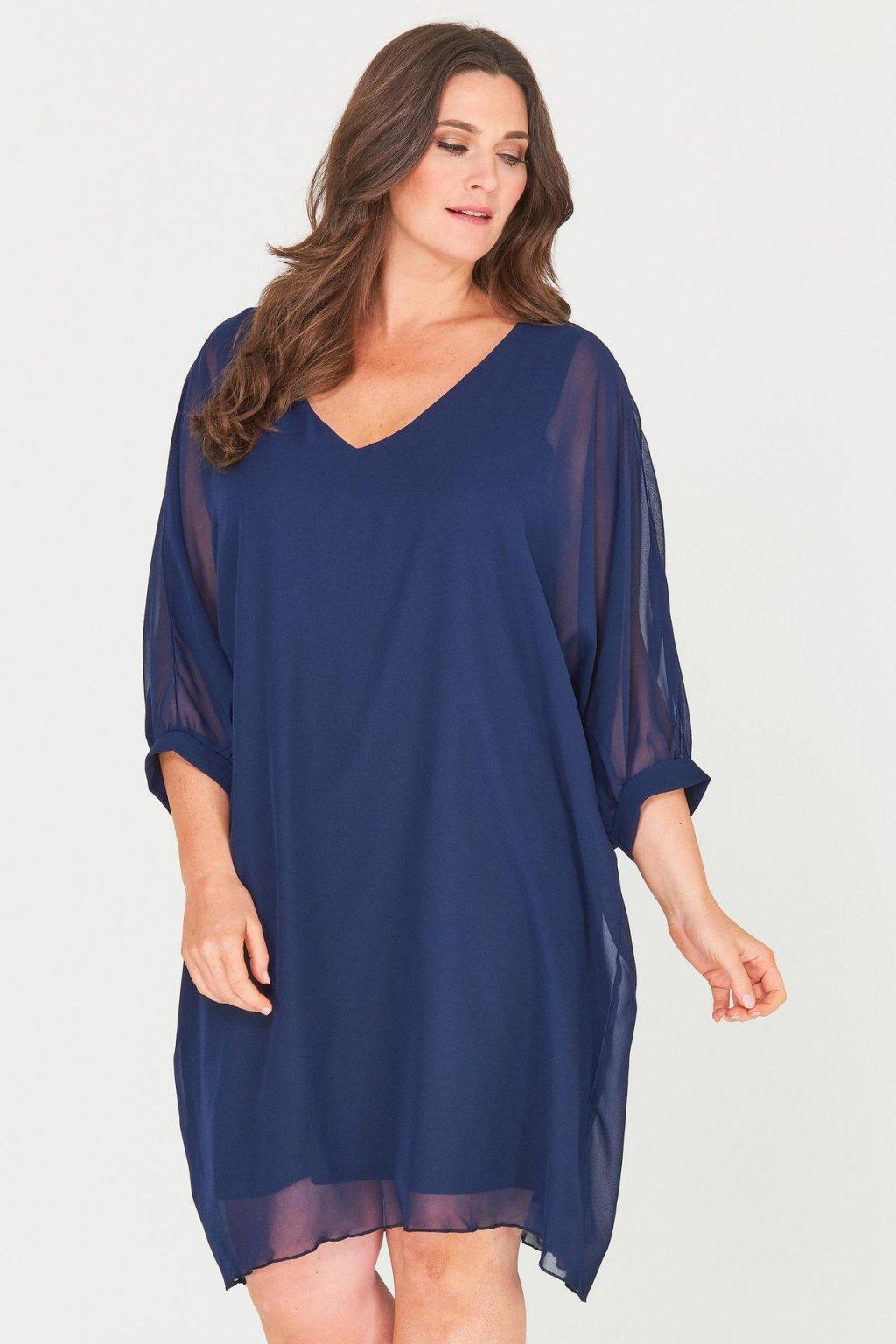 Romantické šaty Parker tmavě modré 1