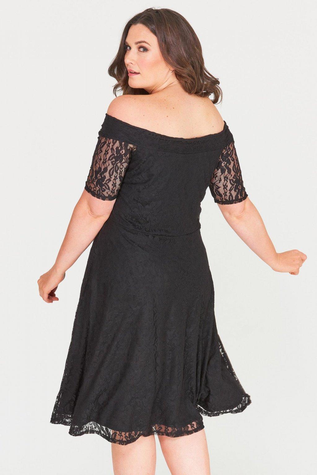 Krajkové šaty Cos s rukávkem černé 4