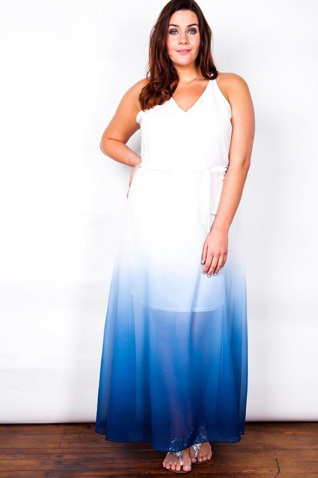 ... Dlouhé šaty Taboo s průsvitnou modrou sukní 3.jpg ... b7504334af
