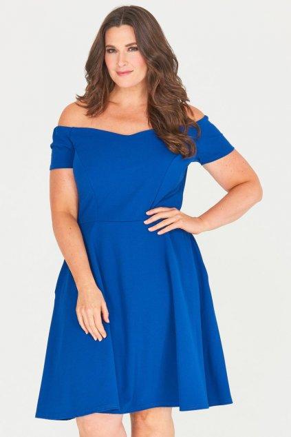 Modré šaty Honey s rozšířenou sukní 2