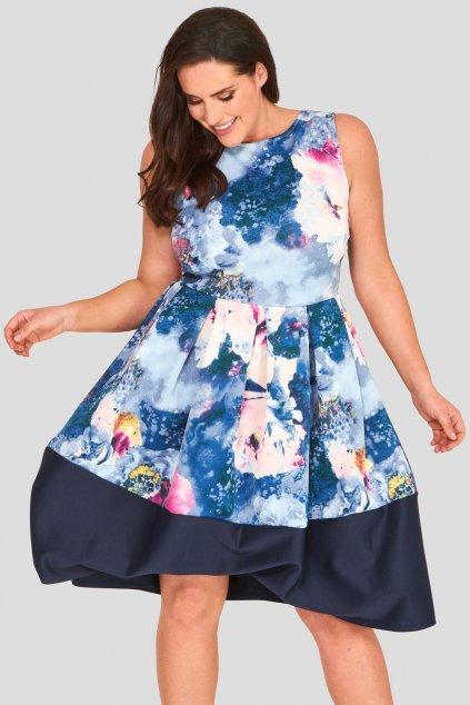 Okouzlující šaty Foil bledě modré 2