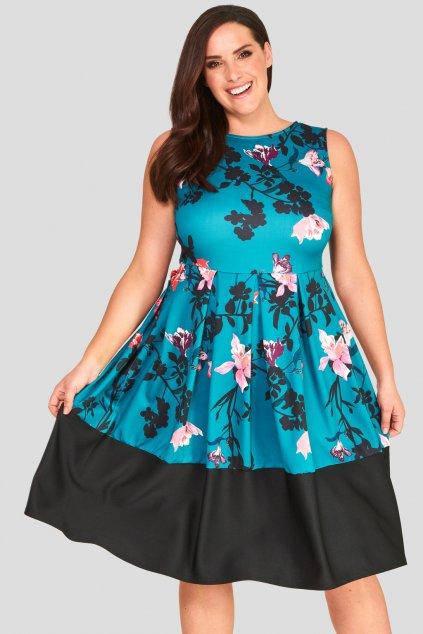 Okouzlující šaty Foil tyrkysově modré 5