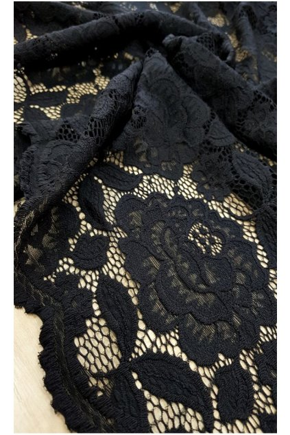 Krajkové šaty Avant Garde s rozšířenou sukní černé 6