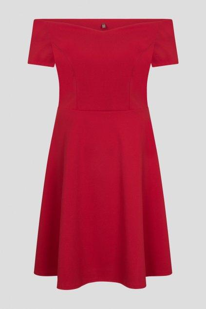 Červené šaty Honey s rozšířenou sukní 1