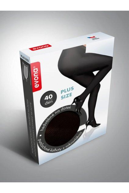 Neprůhledné dámské punčochové kalhoty Evina černé 1