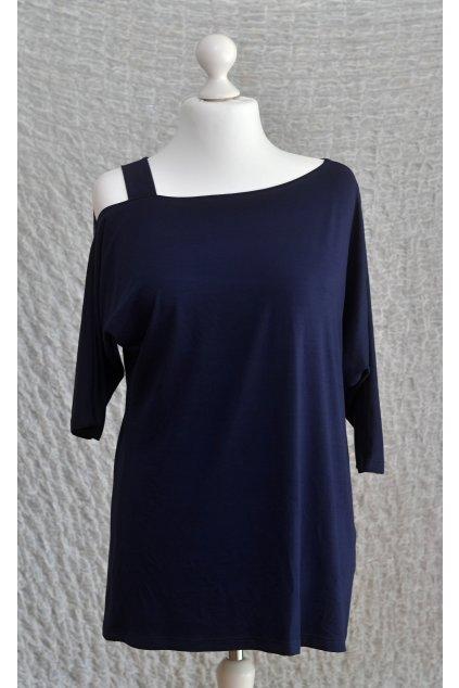 Dámská halenka Rita Bellazu s jednoduchým ramínkem tmavě modrá 1