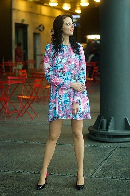 Květinové šaty Fabulous francouzského stylu růžové 5