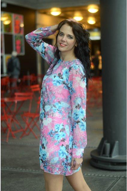 Květinové šaty Fabulous francouzského stylu růžové 7