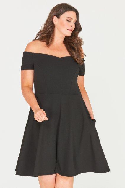 Černé šaty Honey s rozšířenou sukní 2