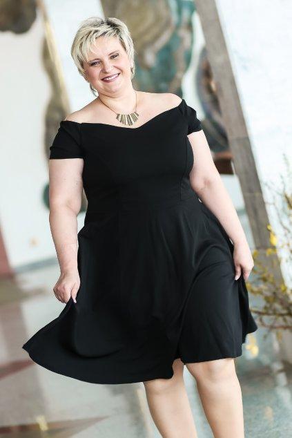 Černé šaty Honey s rozšířenou sukní 6