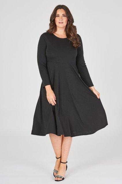 Krásně šaty Coppice áčkového střihu černé 2