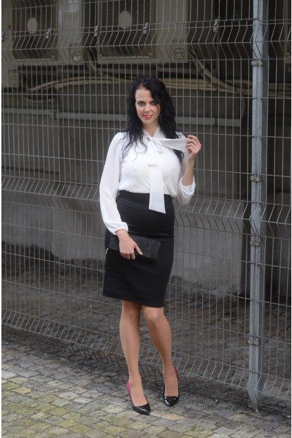 Úpletové šaty Hackney černo bílé 6