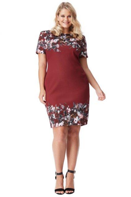 Pouzdrové šaty Floria vínové 1