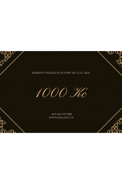 dárkový poukaz Bellazu 1000 Kč