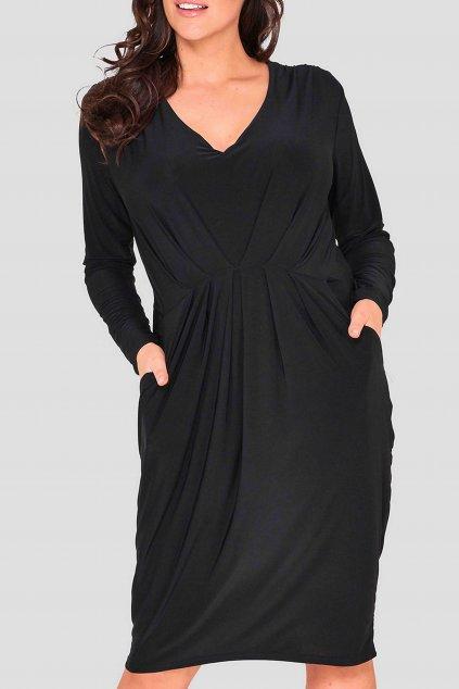 Hladké šaty Portree černé 2