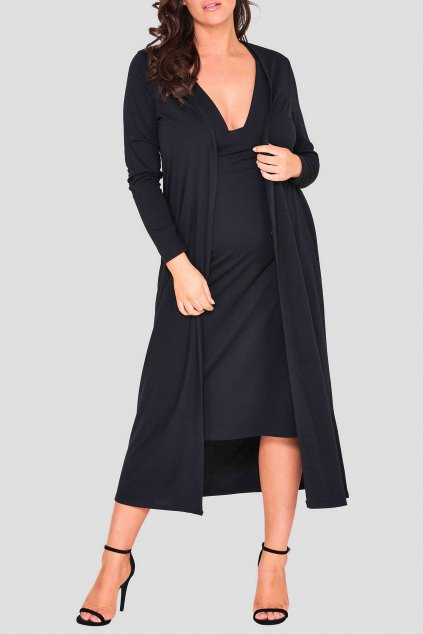 Dlouhé šaty Omaght s plédem černé 3
